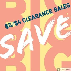 CLOSET CLEAR OUT 💵$5/$4 CLEARANCE GOING ON NOW